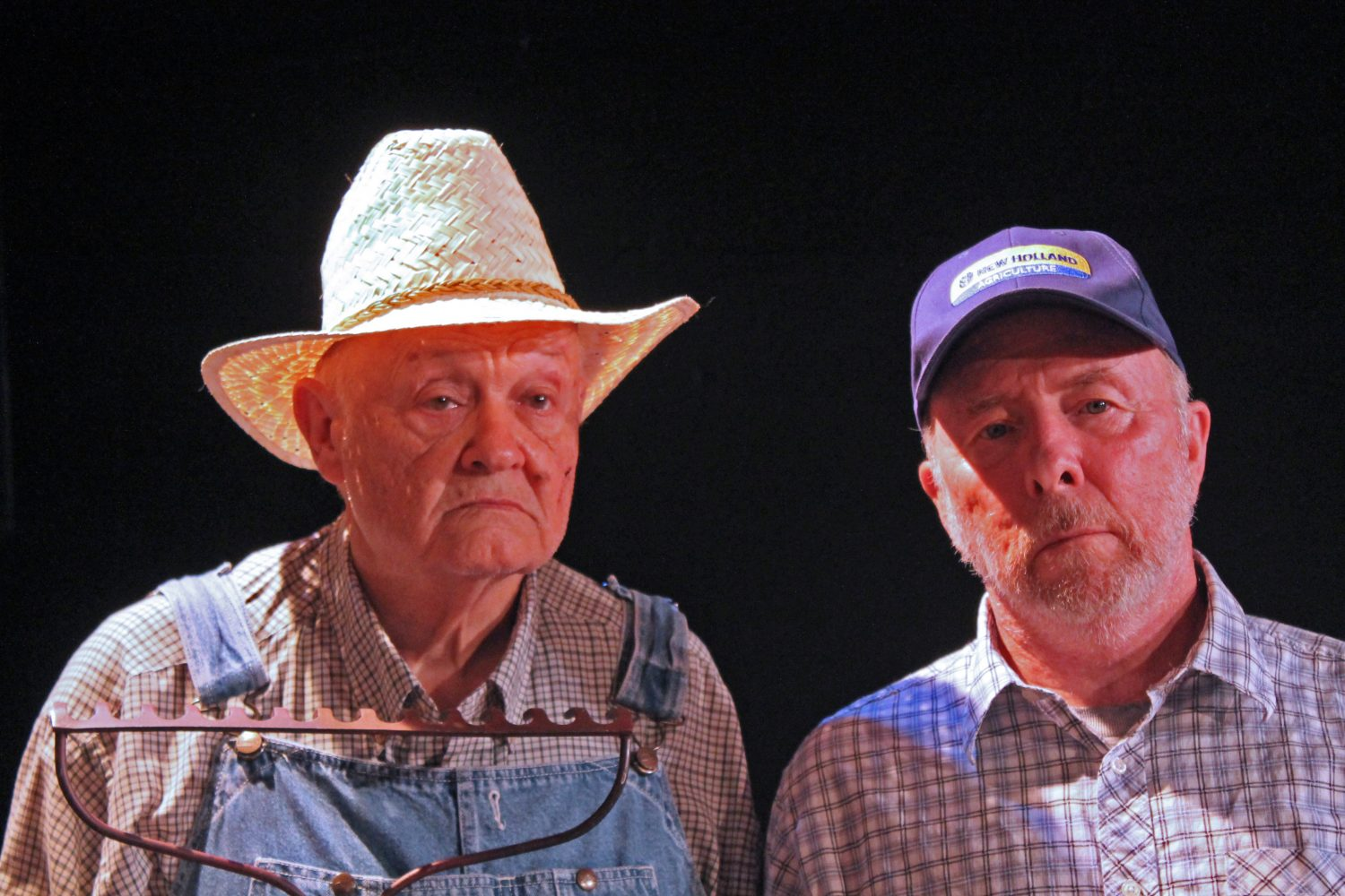 """Two of the actors in  the Acrosstown Repertory Theatre's """"The Drawer Boy"""""""