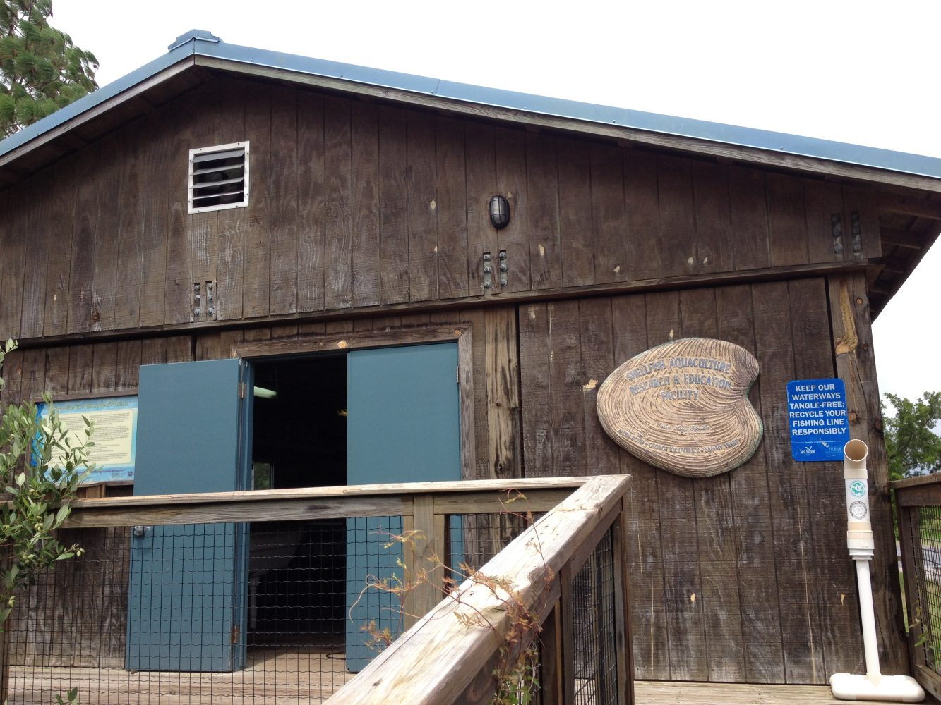 Shellfish Aquaculture Research and Education facility in Cedar Key