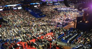 Scene from the Republican National Convention on Tuesday night in Tampa, Florida