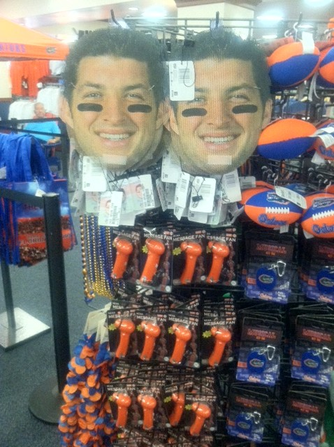 Tim Tebow Screen Masks can be worn by fans in the Swamp this year