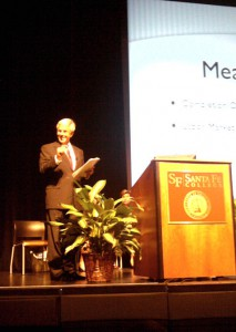 Santa Fe College President Jackson Sasser during a 2012 event. (File/WUFT News)