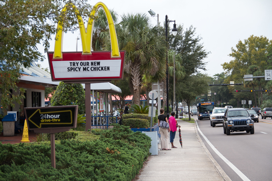 McDonald's on University Avenue in Gainesville is among those now displaying calorie counts on all of its menus.