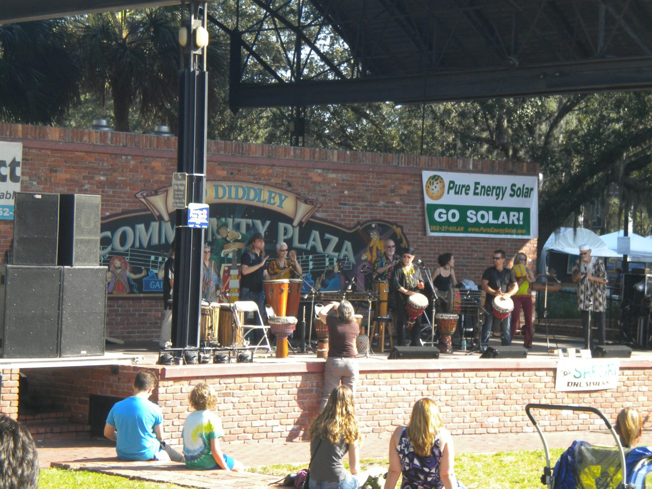 Entertainment at Bo Diddley Plaza during the Gainesville Downtown Festival & Art Show.