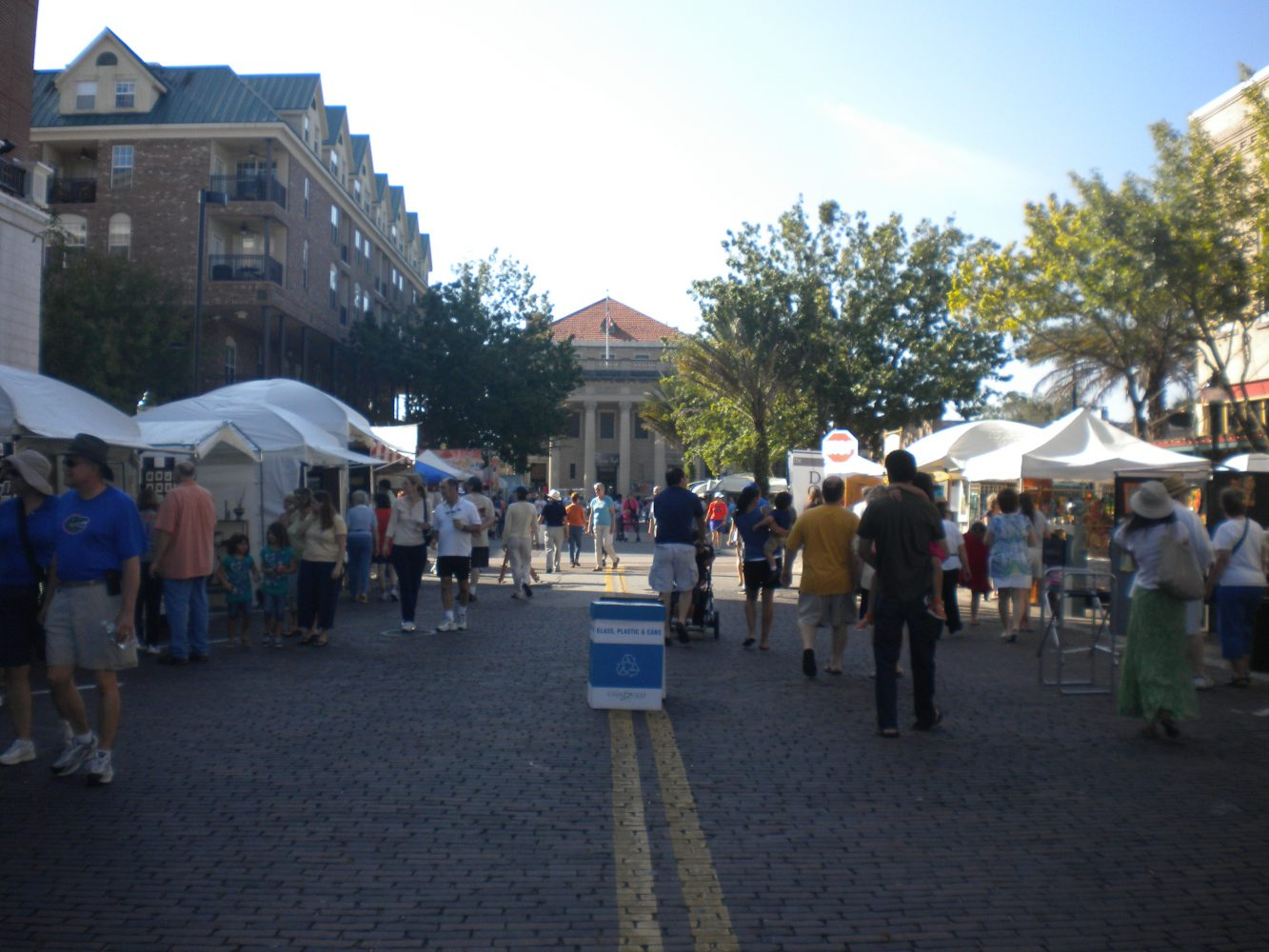Visitors enjoying the Gainesville Downtown Festival & Art Show.