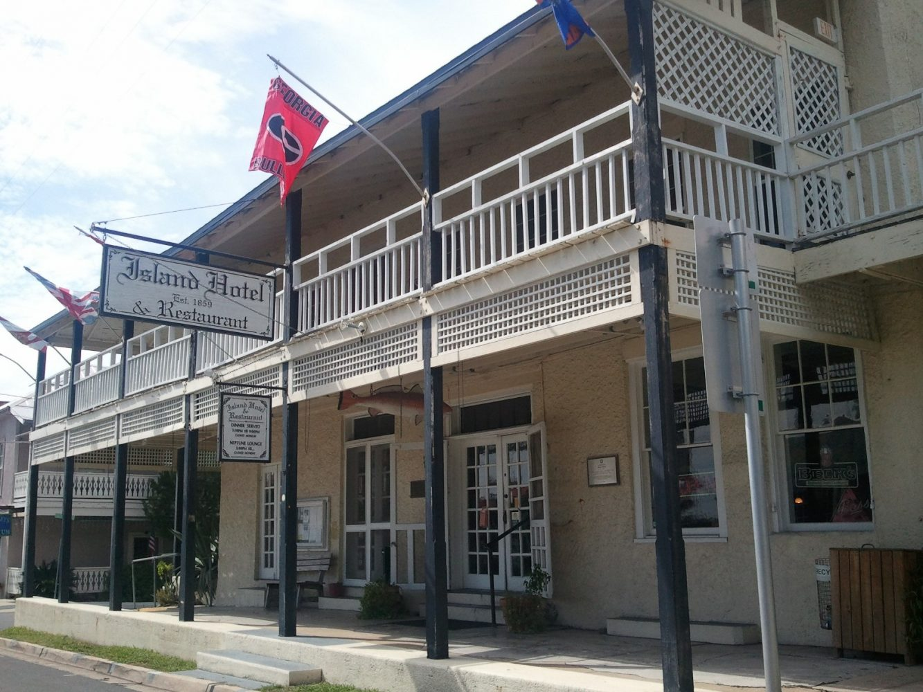 The historic Island Hotel and Restaurant is among the Cedar Key restaurants that buys oysters from Jeanine Beckham.