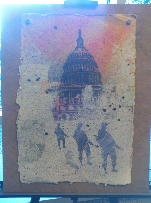 Veterans working with DeCosmo and DeWitt have created these paintings.