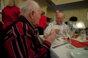 Blackwell and Wight celebrate Valentine's Day 2012 with a dinner for two at Oak's Hammock retirement community.