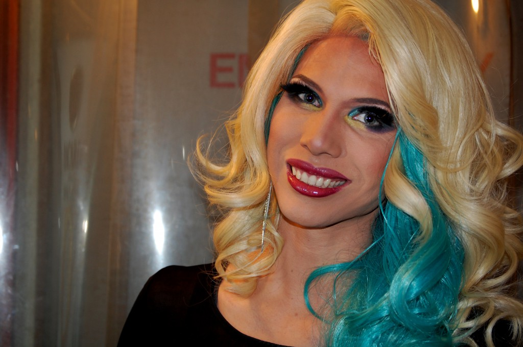 Professional female impersonator Jade Jolie, 26, at the University Club.