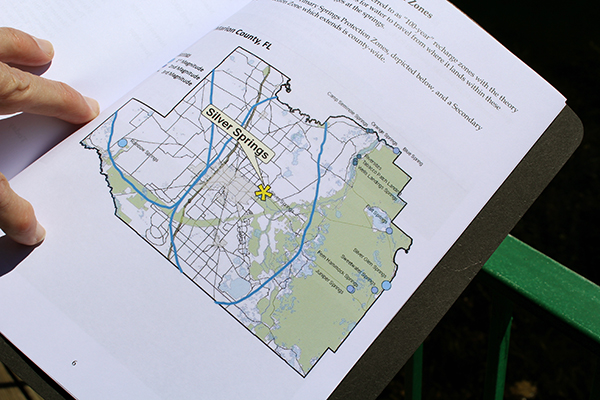 A map of the Marion County springs protection zones.