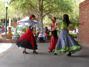 "A Flamenco dance group performs at the 2012 ""Viva Europe!"" festival at the Bo Diddley Plaza in downtown Gainesville."