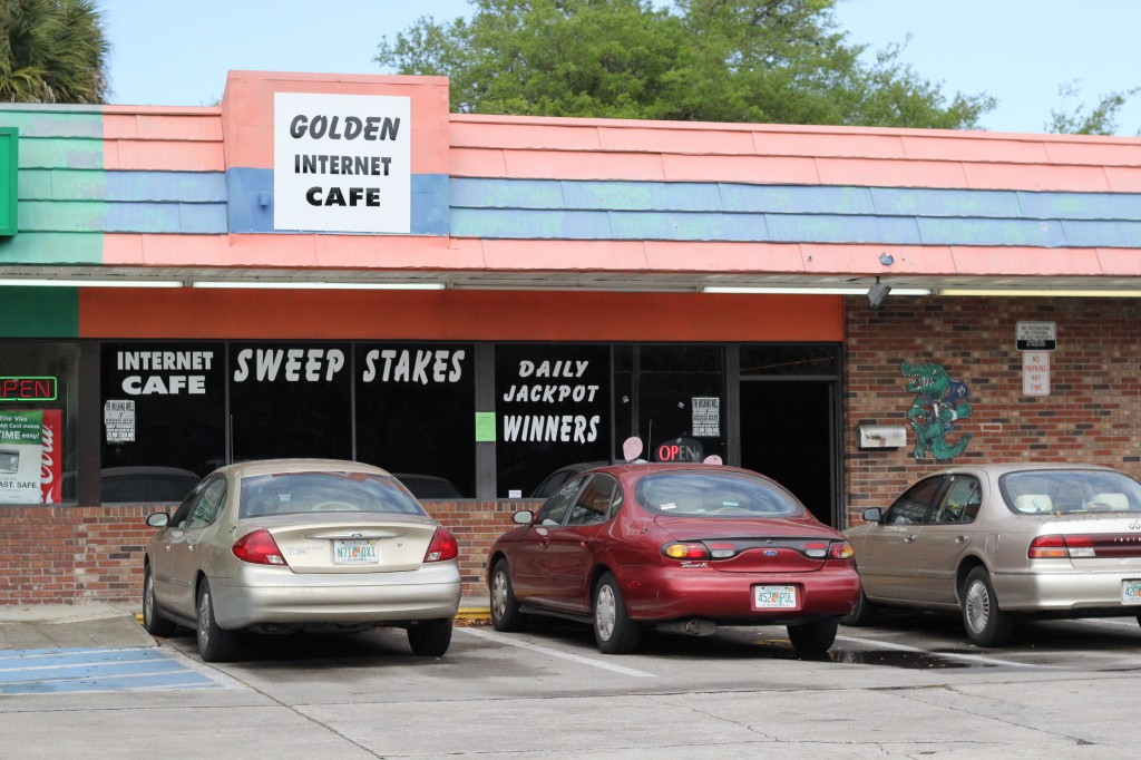Golden Internet cafe, located at 806 NE Waldo Road.