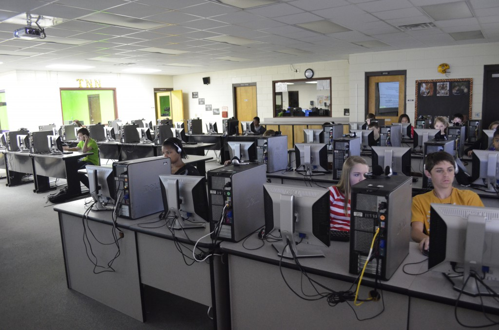 Lake Butler Middle School's computing for college and career class is more than half way done with its first year.  Students get high school credit and get Microsoft Office certified once completing the class.