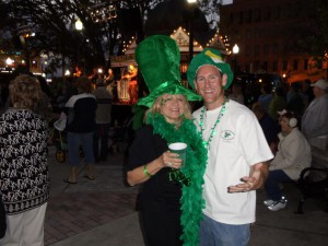 Stan Creel and friend at a previous O'Cala's St. Patrick's Day event.