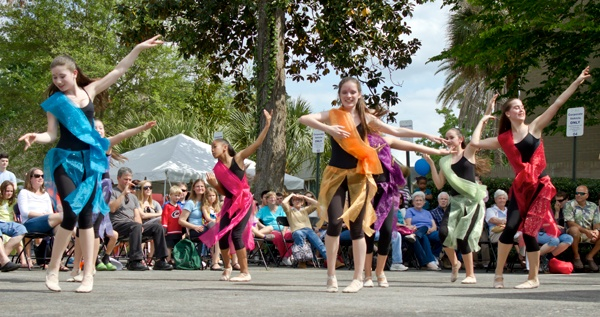 Members of the Gainesville Ballet Theatre dance Sunday at the 44th annual Santa Fe College Spring Arts Festival in downtown Gainesville. Thirty-five individuals and groups performed for festivalgoers.