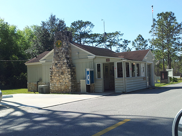 The original ranger station at Gold Head State Park in Keystone Heights that was built by the CCC and is still in use today.