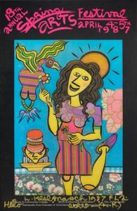 Kesl's artwork for the 1987 Spring Arts Festival.