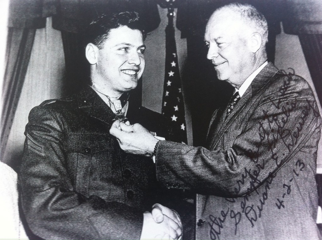 Dewey, left, with President Dwight Eisenhower.