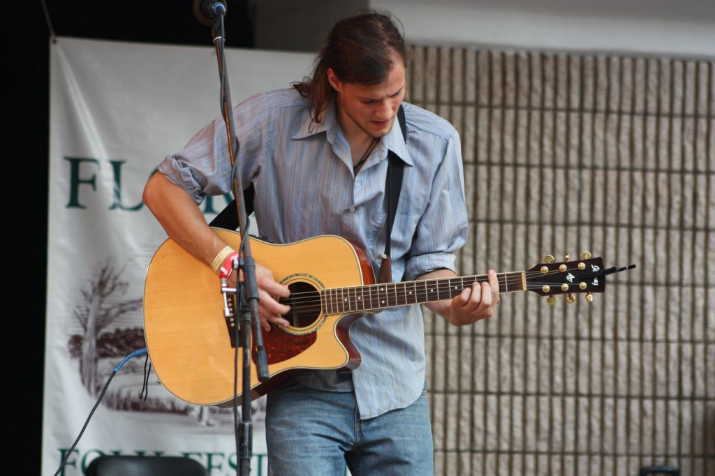 A guitarist at the Florida Folk Festival in more recent years.