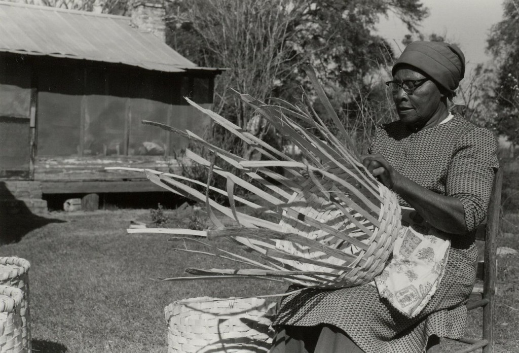 Lucreaty Clark, basket maker, year unknown.