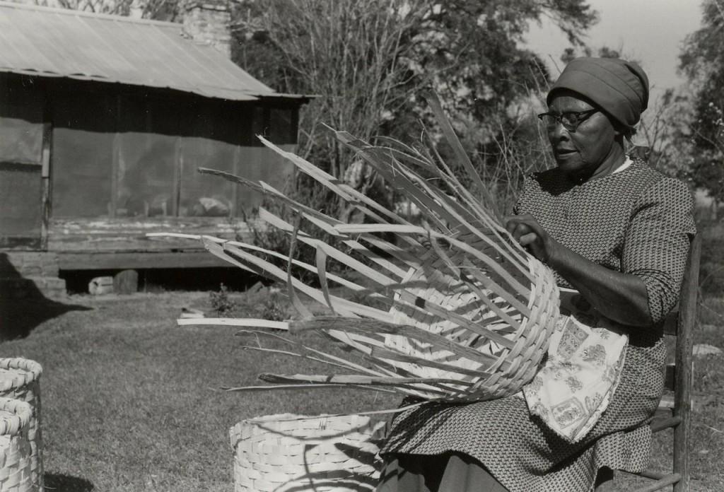 Lucreaty Clark, basket maker, year unknown.