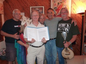 The performers of Payne's Prairie Home Companion.