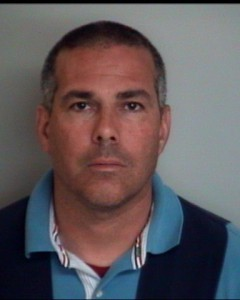 Jeff Gray's Apriil 2012 mugshot, following his arrest by the Lawtey Police.