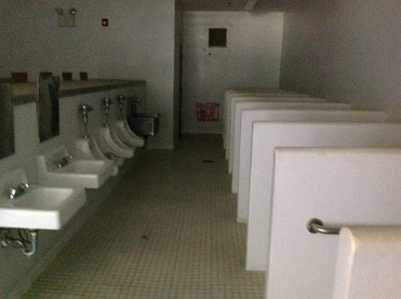 The restrooms will be shared dormitory style as they did when the facility served as a prison.
