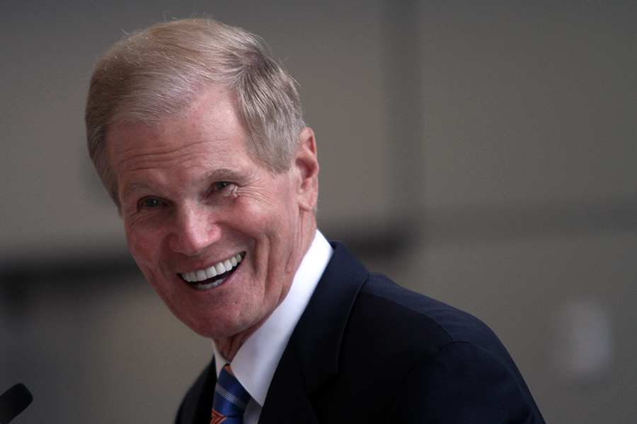 Sen. Bill Nelson speaks Monday at the opening of UF's $45 million Clinical and Translational Research Building.