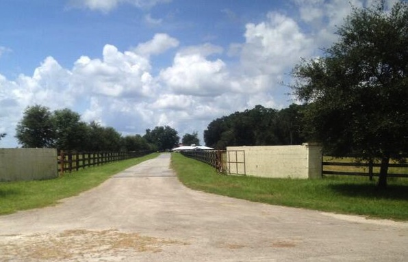 The entrance to Marvin Pritchett's farm outside Lake Butler in Union County.