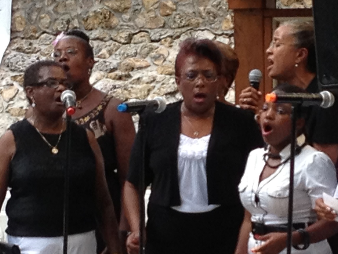 The King Celebration Community Choir kicked off the ceremony with a musical prelude at the March on Washington 50th Anniversary Commemorative Program in Gainesville.