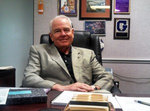 Superintendent Dan Boyd of Alachua County Public Schools sits in his office at the Kirby Smith Center on East University Avenue. After more than nine years as superintendent, Boyd is retiring at the end of September.