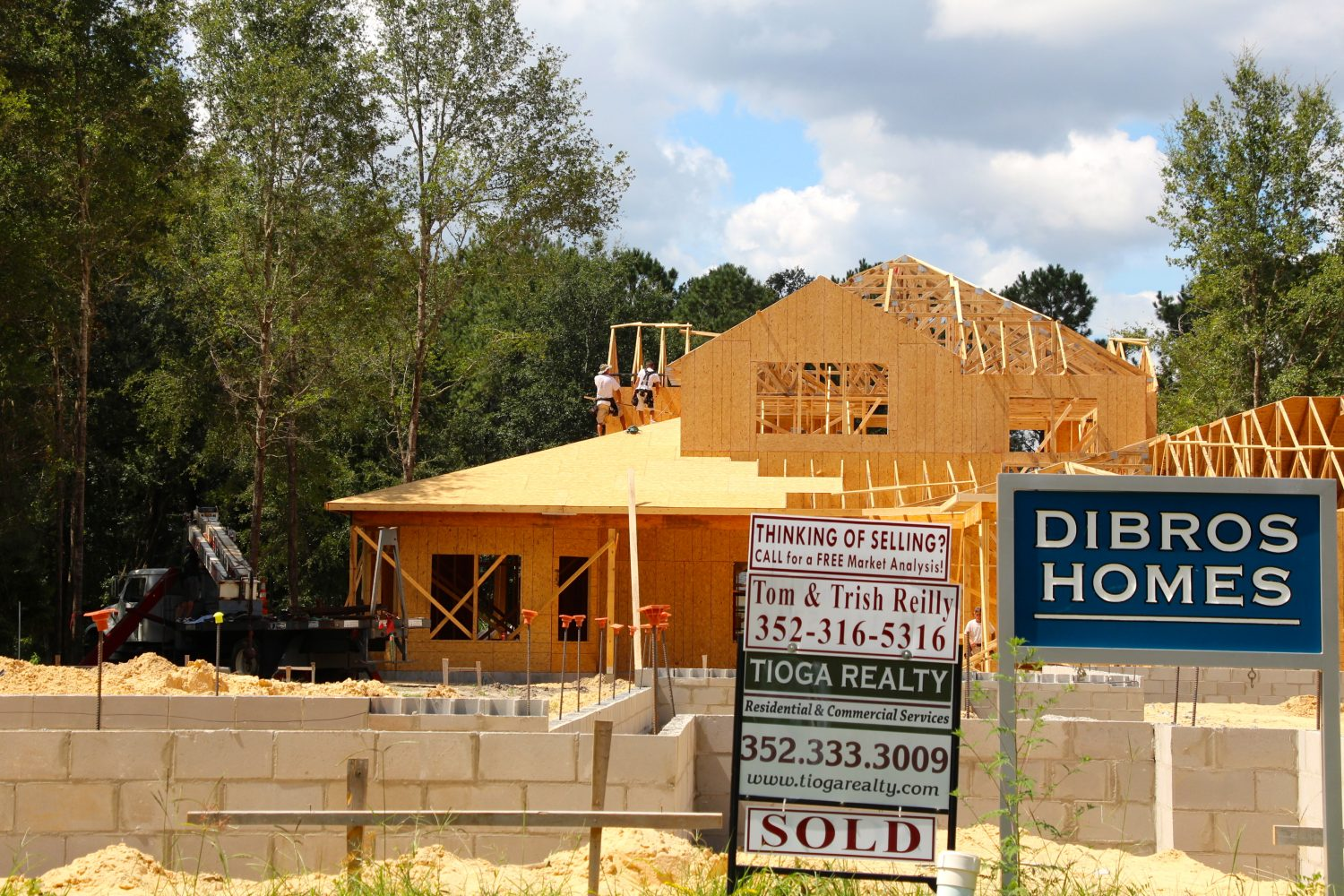 Town of Tioga houses sell before they are built. The demand for new homes has increased in recent years.