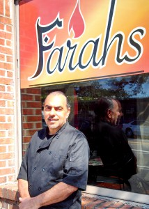 Nick Farah in front of his soon-to-be closed restaurant at 1120 W. University Ave. Farah's on the Avenue will close Friday after three decades of business. Farah will move on to focusing on food manufacturing and his mother's catering business.
