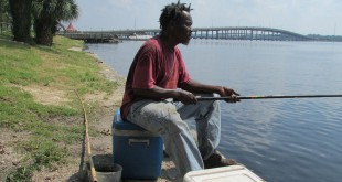 Maxwell Johnson, 60, regularly fishes on the St. John's River in Palatka, Fla.