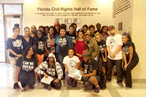 "Dream Defenders from around the state of Florida gathered Sept. 23 for lobbying training sessions at the Tallahassee Capitol building in their continued fight against the ""stand your ground"" law. The group was formed in 2012 after the death of Trayvon Martin and has since gained international attention."