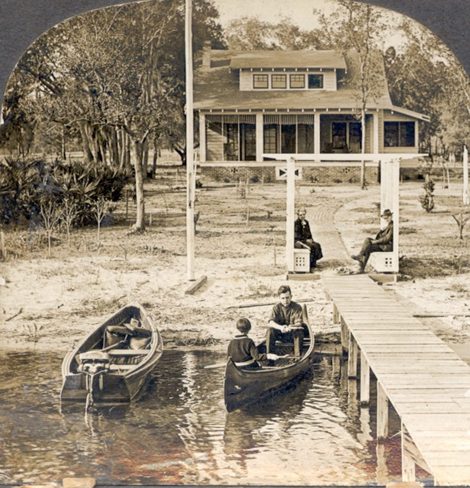 Keystone Heights Mayor Mary Lou Hildreth's home in the late 1920s. Hildreth's home sits on Lake Geneva, which has receded far from its original shoreline.