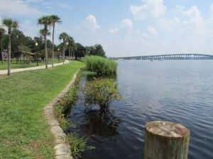 The Palatka riverfront overlooking St. John's River.