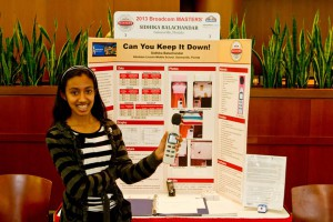 Balachandar presenting her project at Broadcom.