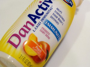 DanActive is one of many foods products to use probiotics. Probiotics are bacterial supplements that help digestive issues.
