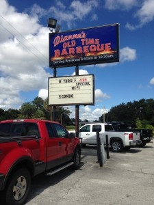 Dianne's Old Time Barbecue, 6707 SE Hwy 301, in Hawthorne.