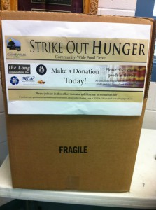 People can donate non-perishable food items to the Strike Out Hunger Food Drive from 7 a.m. to 7 p.m. Monday, Nov. 4.
