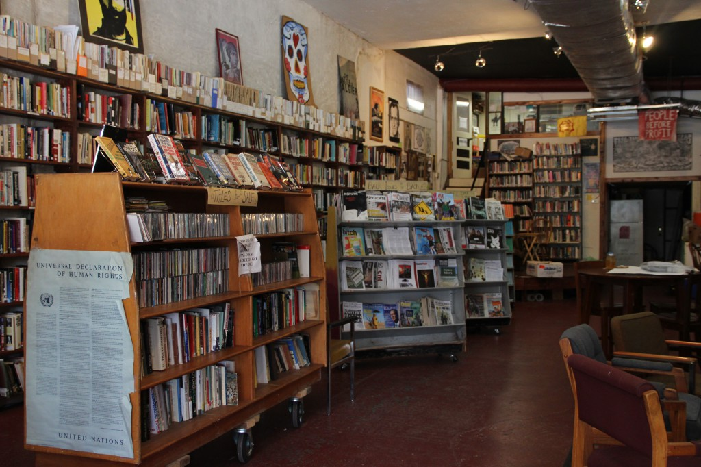 The Civic Media Center is an alternative library and community organizing space. It is frequently used to host events, group meetings and guest speakers.