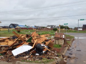 Debris left behind three months after the Moore tornado.