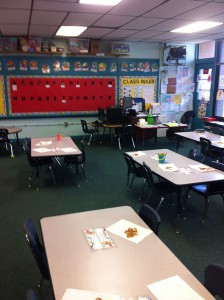 Starke Elementary kindergarten teacher Natalie Whytsell's new classroom at Southside Elementary School.