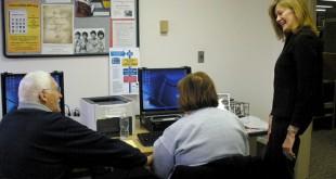 Seniors using computers