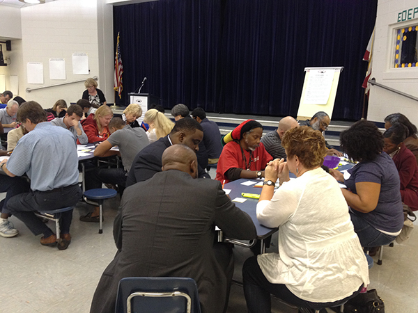 Alachua County residents discussed at a public forum Thursday night what they saw as the major challenges the next superintendent of Alachua County Public Schools will face at Metcalfe Elementary School.