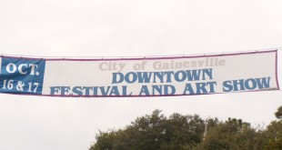 The banner located on West University Ave for the Downtown Festival and Art Show lists the incorrect date. The Festival is this weekend Nov.16-17.