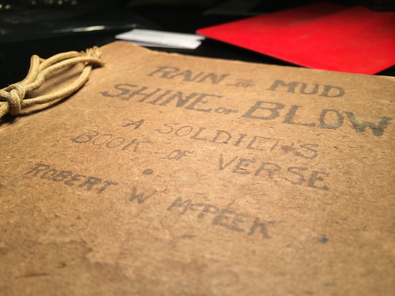 """The cover of the actual book """"Rain or Mud, Shine or Blow"""" by Robert Wayne McPeek"""