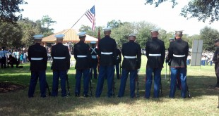 A US Marine Honor Guard from Orlando on Veterans Day in Ocala