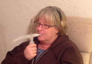 Moore, during a treatment session for the various illnesses she developed in 2013.